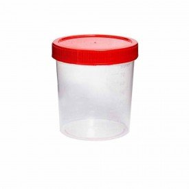 11074 coletor urina fezes polipropileno s pa 80 ml esteril pct c 100 und cral