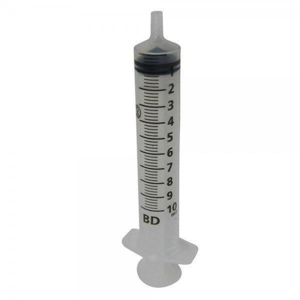 12684 seringa descartavel sem agulha luer slip bd plastipak 10 ml pct c 100 und