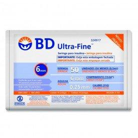 12694 seringa insulina 0 5 ml c agulha pct c 10 und bd ultra fine