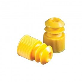 13041 tampa p tubo de ensaio 12 x 75 mm amarela pct c 1000 und labor import