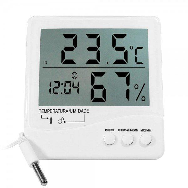 13066 termometro higrometro digital c cabo 3 mts incoterm