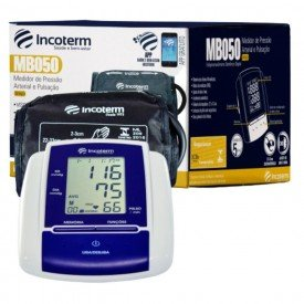 12181 medidor pressao arterial e pulsacao digital automatico braco incoterm mb050