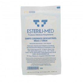 10705 campo cirurgico esteril plastico 90 x 120 cm pct c 100 und estereli med