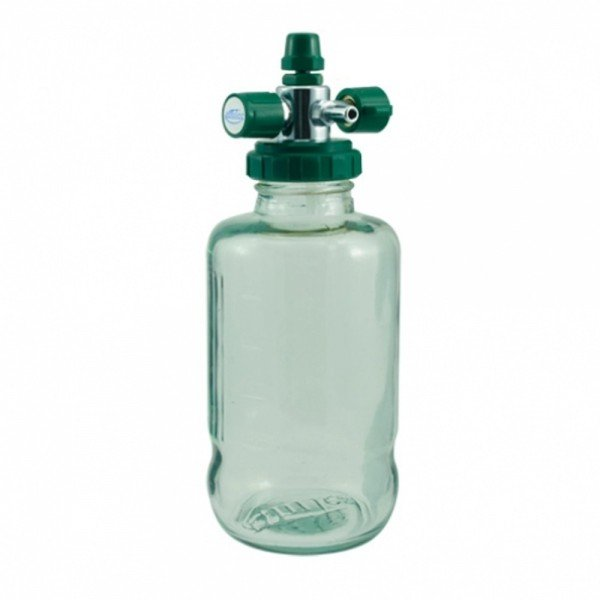14071 aspirador p rede canalizada frasco de vidro 500 ml oxigenio unitec