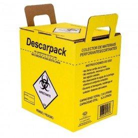 14004 coletor perfurocortante papelao descarpack 7 litros