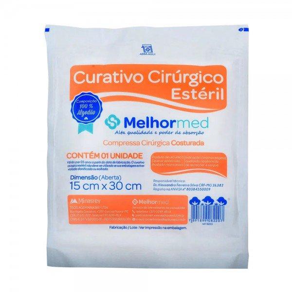 11145 curativo cirurgico esteril algodoado 15 x 30 cm pct c 1 und melhormed