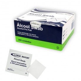 11102 compressa esteril com alcool swab cx c 200 und labor import