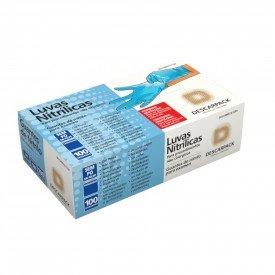 12105 luva procedimento nitrilica sem talco cx c50 pares descarpack p azul