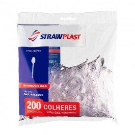 11076 colher plastica descartavel transparente pct c 200 und strawplast