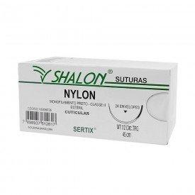 fio de sutura nylon 3 0 c agulha 38 triangular cx c 24 und shalon