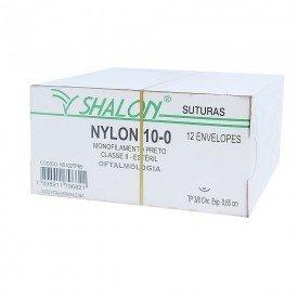 11701 fio de sutura nylon 10 0 c agulha 38 circular 0 65 cm cx c 12 und shalon