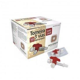 14122 torneirinha 3 vias luer lock cx c 50 und descarpack
