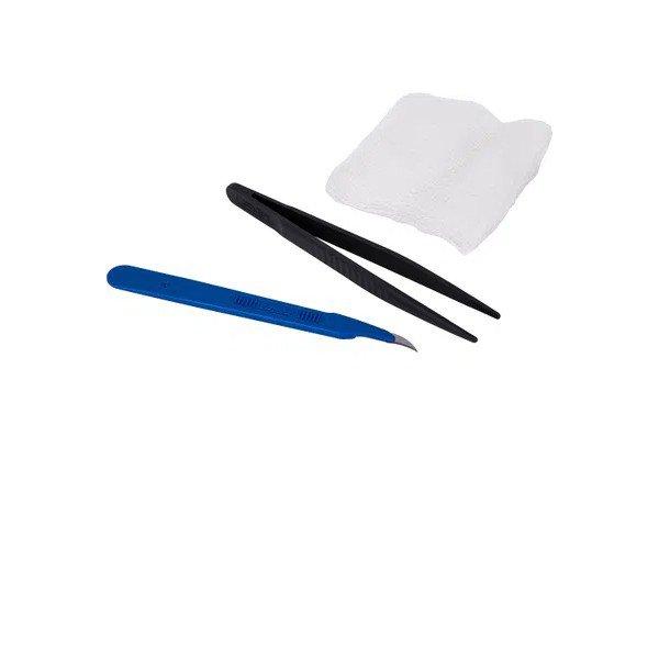 14229 kit retirada de pontos em resina c lamina de bisturi esteril kolplast