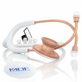 11520 estetoscopio adulto duplo em aliminio mdf instruments acoustica 747xp branco e rose