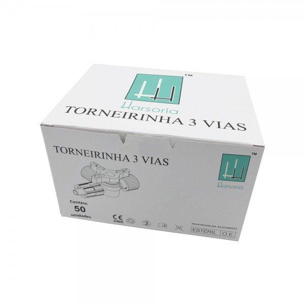 14468 torneirinha 3 vias luer lock cx c 50 und harsoria
