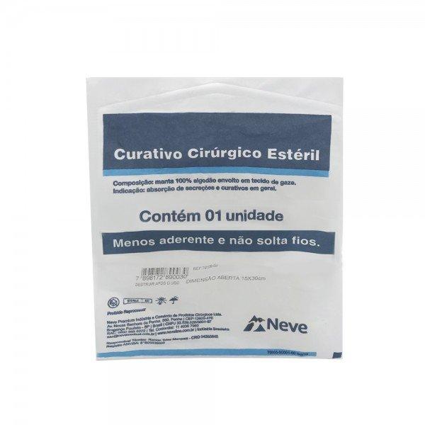14471 curativo cirurgico esteril algodoado 15x 30 cm pct c 1 und neve