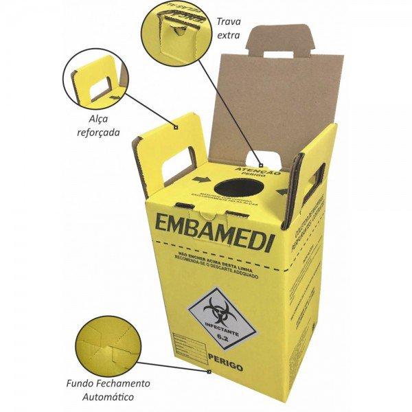 14536 14535 coletor perfurocortante papelao embamedi ecologic