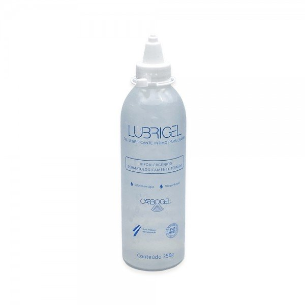 11867 gel lubrificante intimo para exames carbogel lubrigel 250 gr