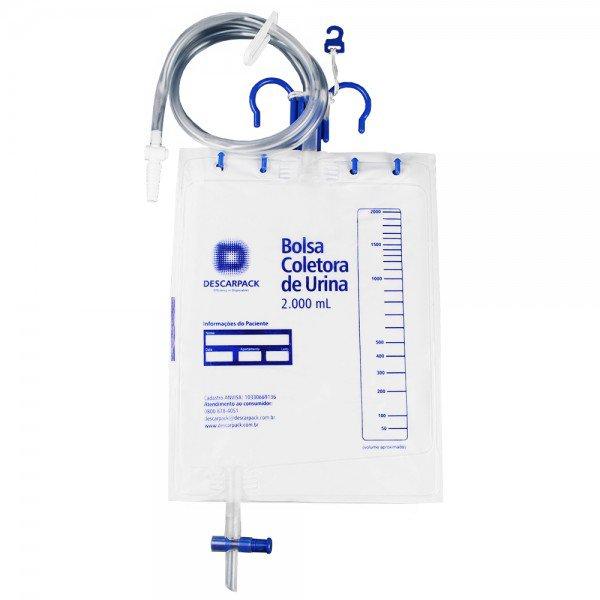 14666 bolsa coletora drenagem de urina sistema fechado 2000 ml descarpack