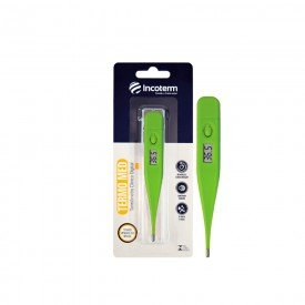 14706 termometro clinico digital incoterm termo med verde