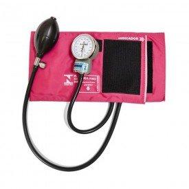 11452 esfigmomanometro adulto fecho velcro pa med rosa