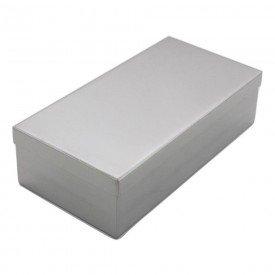 14371 estojo liso inox aconox 26 x 12 x 06 cm
