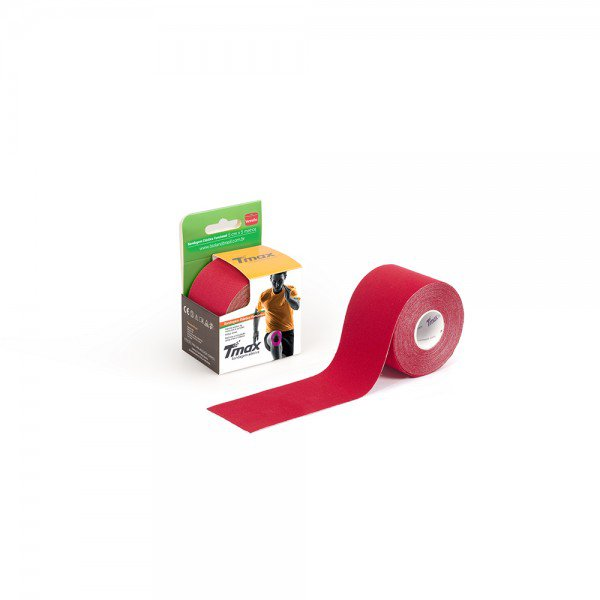 10481 bandagem elastica adesiva 5 cm x 5 metros tmax bioland vermelha