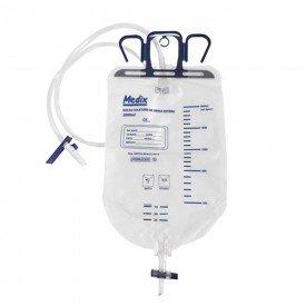 10587 bolsa coletora drenagem de urina sistema fechado 2000 ml medix
