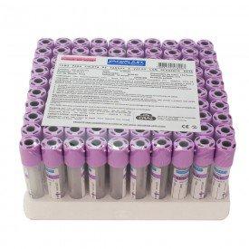 14836 tubo de vacuo c reagente edta k3 tampa roxa plastico cx c 100 und cral 04 ml