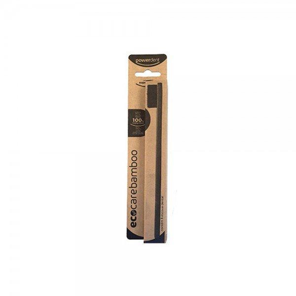 14867 escova dental biodegravel super macia ccarvao ativado powerdent eco care bamboo
