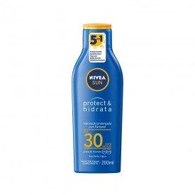 14896 protetor solar 5 em 1 protect e hidrata 200 ml nivea sun fps 30