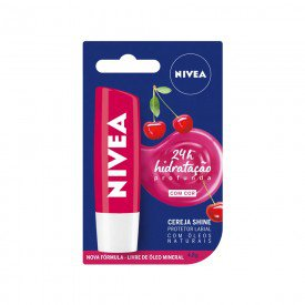 14888 protetor labial 4 8 g nivea lip care cereja shine