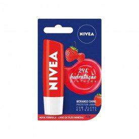 14890 protetor labial 4 8 g nivea lip care morango shine