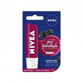 14889 protetor labial 4 8 g nivea lip care amora shine