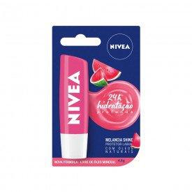 14891 protetor labial 4 8 g nivea lip care melancia shine