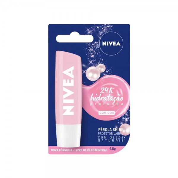 14887 protetor labial 4 8 g nivea lip care perola shine
