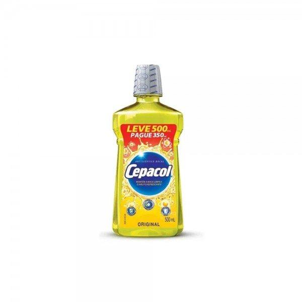 14851 antisseptico bucal leve 500 pague 350 ml sanofi cepacol original
