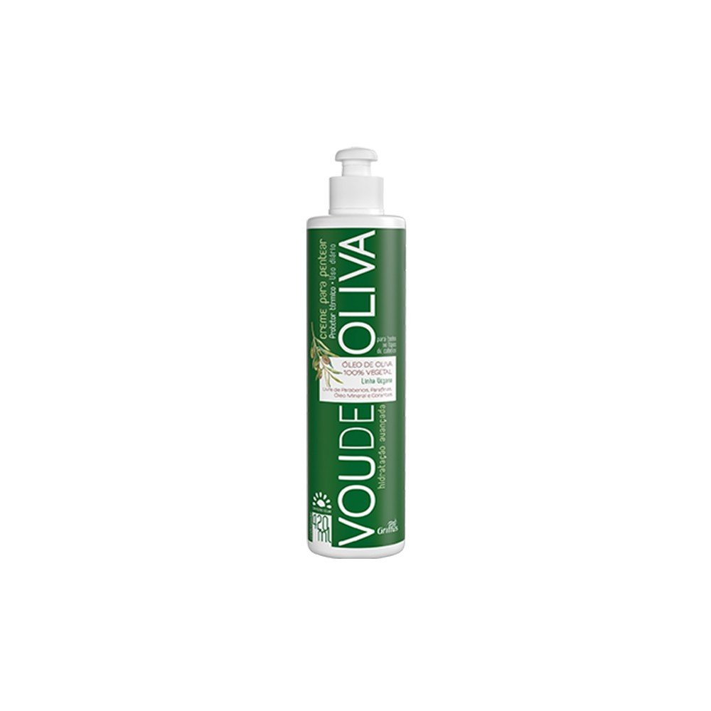 14860 creme para pentear vegano com filtro solar 420 ml griffus vou de oliva