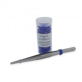 14828 marcador de instrumentais em silicone autoclavavel pote c 100 und cpoh azul