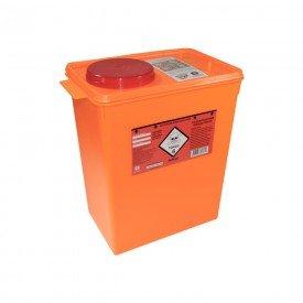 15041 coletor plastico rigido p residuos toxicos laranja descarpack 13 litros