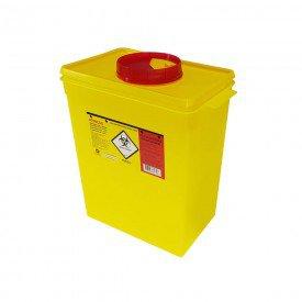 15025 coletor plastico rigido p residuos perfurocortantes amarelo descarpack 13 litros