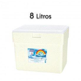14757 caixa termica em e p s com alca isoterm 8 litros