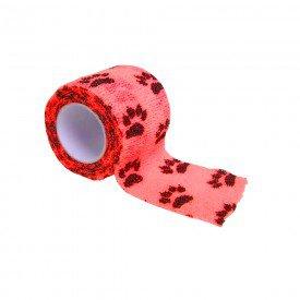 15092 atadura elastica estampada 5 cm x 4 5 metros tkl la vet vermelha