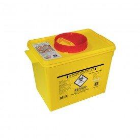 15024 coletor plastico rigido p residuos perfurocortantes amarelo descarpack 7 litros